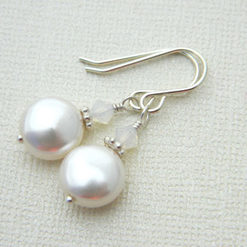 5085d 8f9c1 swarovski pearl earrings wanelo.co entire collection ... a40ef33aa170