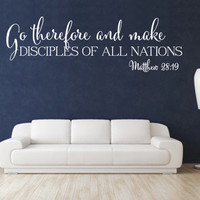 Spiritual Wall Decal. Go Therefore and Make v1 - CODE 171