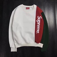 ''Supreme'' Women Men Fashion Long Sleeve Pullover Sweatshirt Top Sweater