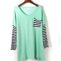 Bat Sleeve Striped Sweater$41.00