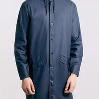 Rains Blue Long Waterproof Jacket - Men's Jackets & Coats - Clothing