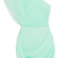 Alice + Olivia Wesson one-shoulder silk-chiffon dress – 55% at THE OUTNET.COM