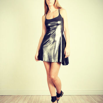 Cocktail party dress Silver Strap dress Sequin dress Holiday dress Sexy Cocktail dress New year dress