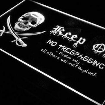 Pirate Keep Out LED Neon Light Sign