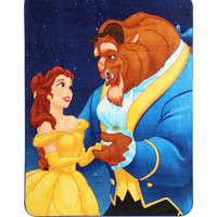 Disney Beauty And The Beast Micro Raschel Throw