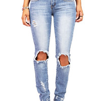 Blow Out Straight Jeans