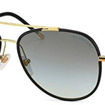 Burberry Be3078j 114511 Unisex Sunglasses Gold/matte Black Gray Gradient Lens 57mm