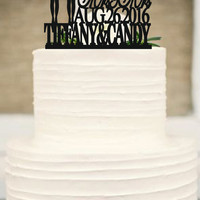Same Sex Cake Topper,lesbian Cake Topper,Mrs and Mrs Wedding Cake Topper, Wedding Silhouette Couple Cake Topper with Cat
