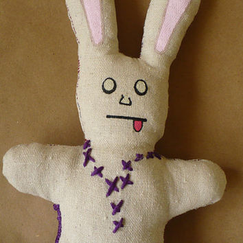 Alternative / Folk / HAB Easter Hares and Springtime Scares - After Life Bunny - Cloth Doll - OOAK