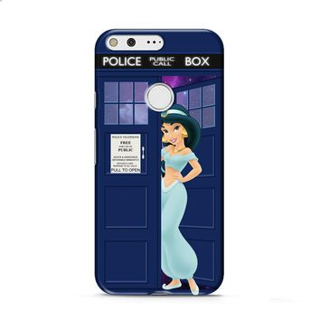 Disney Princess Jasmine Tardis Police Box Google Pixel XL 2 case