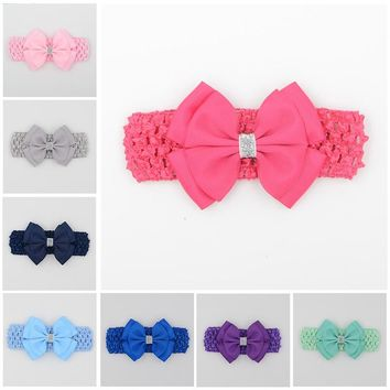 hair elastic bands ribbon bows kids  head wraps accessory headbands satin flower hairband headwrap