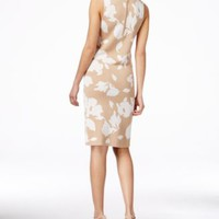 Anne Klein Floral-Print Sheath Sweater Dress | macys.com