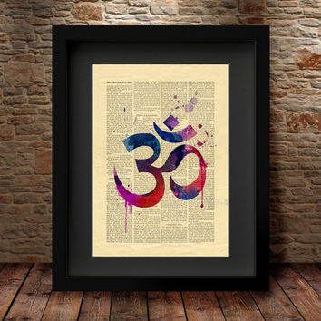 YOGA, Om Symbol, Yoga Art Print, Yoga Artwork, Om Symbol Yoga Art, Watercolor Yoga Art, OM Art,Wall Art Print Watercolor, Yoga Poster - 59