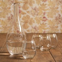 Water Carafe w/4 cups