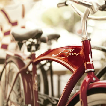 American Flyer Bike - Red Room Decor- 12x12 photo picture for Ikea Ribba Frame, boys