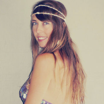 Mermaid Crown / Seashell Headband / Summer Festival Flapper Wedding Hawaiian Ocean Head Piece / Made to order