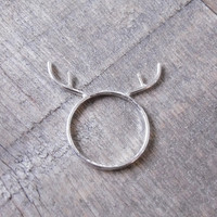 Antler Ring in Sterling Silver