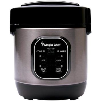 Magic Chef(R) Magic Chef Mcsrc03st 3-Cup Stainless Steel Rice Cooker