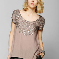 Angie Drapey Beaded Top - Urban Outfitters