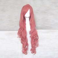 Dream2reality Cosplay_Vocaloid Family_megurine of the Dragon Kagamine Len_2 ponytails_80CMcurly_rouge pink_Japanese kanekalon wigs