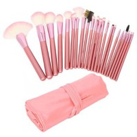 22pcs Professional Cosmetic Makeup Brush Set with Pink Bag Pink:Amazon:Beauty