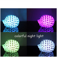 Popular LED Hedgehog Night Light Desk Lamp Changeable-color Christmas Present Baby Light LED Bedside Lamp