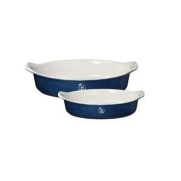 Emile Henry Oval Baker Set of 2 Twilight