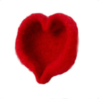 Mini Sweet on You Red Felted Heart Shaped Bowl For your Valentine or Any time