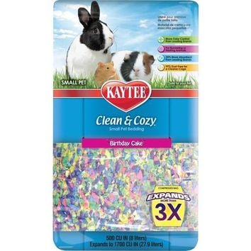 Kaytee Clean & Cozy Pet Bedding Birthday Cake 500 cu in