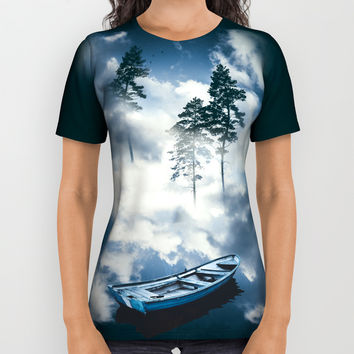 Forest sailing All Over Print Shirt by happymelvin