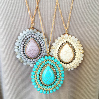 Multi Layer Teardrop Necklace