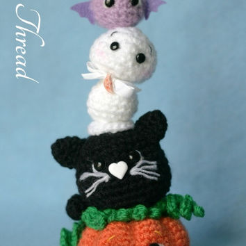 Elfin Thread - Halloween Mini Totem Amigurumi PDF Pattern (halloween crochet totem) Halloween Decoration