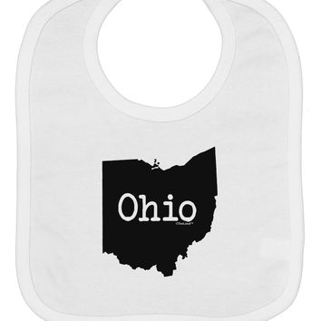 Ohio - United States Shape Baby Bib by TooLoud