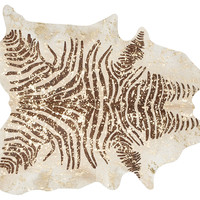 Devore Zebra Hide, Gold/Brown, Large, Area Rugs