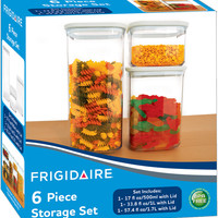 frigidaire plastic food storage container 6 piece set Case of 4