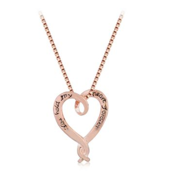 You Hold My Heart Forever Print Pendant Necklace + Nice Gift Box Great Gifts