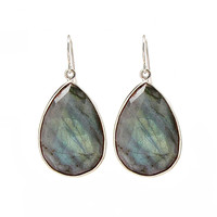 Large Labradorite Drop Earrings