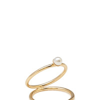 FOREVER 21 Open Faux Pearl Ring