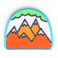 Mokuyobi Threads — Neon Mountains Patch