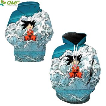 Funny Kid Son Goku Autumn Hoodies Sportsuit Skateboarding Sweatshirts Dragon Ball Z Hooded Tops Winter Men Hoody Tracksuits Coat