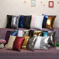 2016 DIY Glitter Sequins Throw Pillow Cases 11 Designs Color Changing Scale Hugging Home Cushion Decorative Pillow Cover