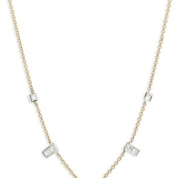 Bony Levy Diamond Rectangle Dangle Station Necklace (Nordstrom Exclusive) | Nordstrom