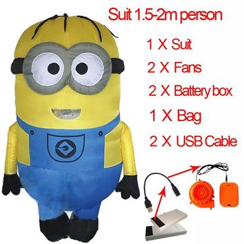 Adult Minion Costume Inflatable Minion Costume Cosplay Party Despicable Me Minion Mascot Halloween Minion Costume For Women Men