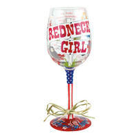 Redneck Girl Wine Glass | Hand Painted Wine Glass | Designs by Lolita | Official Lolita Store