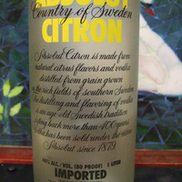 25 Ounce Pure Soy Candle in Reclaimed Absolut Citron Vodka Bottle - Your Choice of Scent