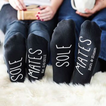 his and hers sole mate set of socks by alphabet interiors | notonthehighstreet.com