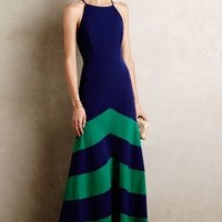 Of Land & Sea Gown by Shoshanna Navy