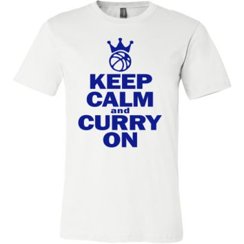 Golden State Warriors Keep Calm and Curry on - Steph Curry Canvas Mens Shirt - Free Shipping