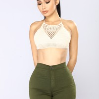 Summer Time Love Crop Top - Cream