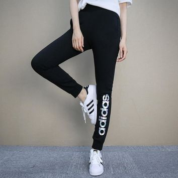 Fashion Online Adidas Fashion Reflective Logo Pants Trousers In Black